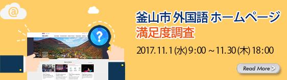釜山市 外国語ホームページ満足度調査
