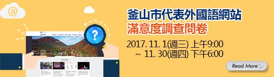 釜山市代表外國語網站滿意度調查問卷
