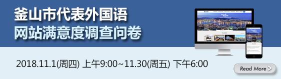 釜山市代表外国语网站满意度调查问卷