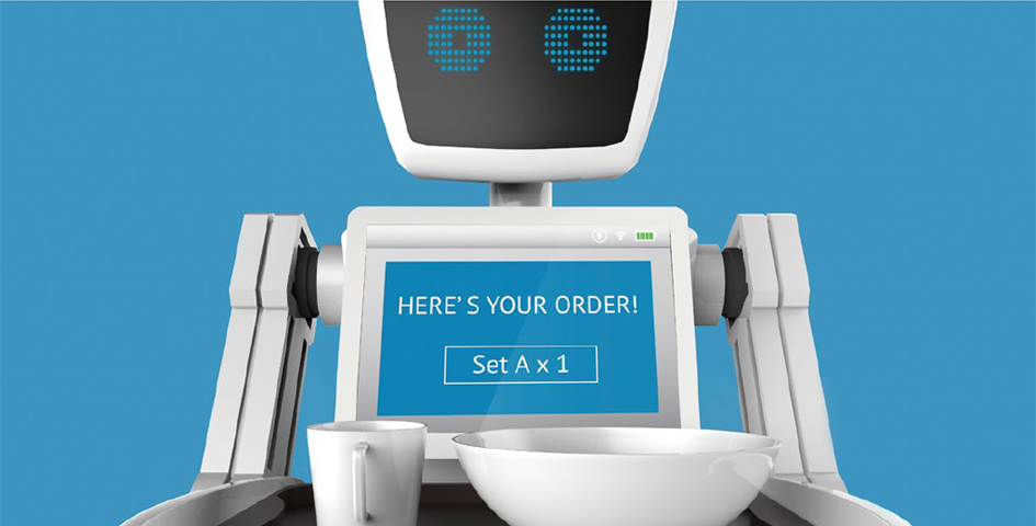 Robot image HERE'S YOUR ORDER! Set A X 1